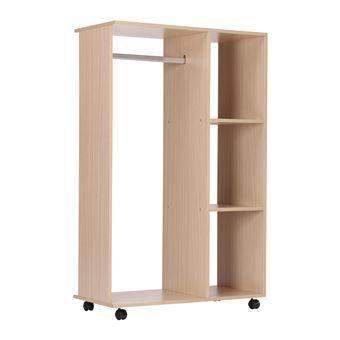 24 90 sur armoire penderie de rangement bois achat prix fnac. Black Bedroom Furniture Sets. Home Design Ideas