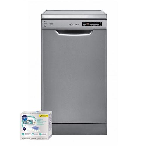 lave-vaisselle candy mou--cdp2d1047x 58 inox le système stop rail de candy est un système breveté qui permet le blocage du panier inférieur. il garantit un confort et une sécurité totale y compris lorsque le panier est chargé. il empêche le déséquilibre d