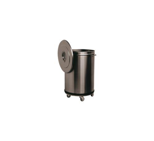 Bac à Déchets 90 L Inox Roulant - 47 cm 9000 cl