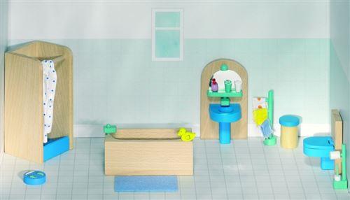 Goki Bois maison de poupée salle de bains moderne 17-Piece