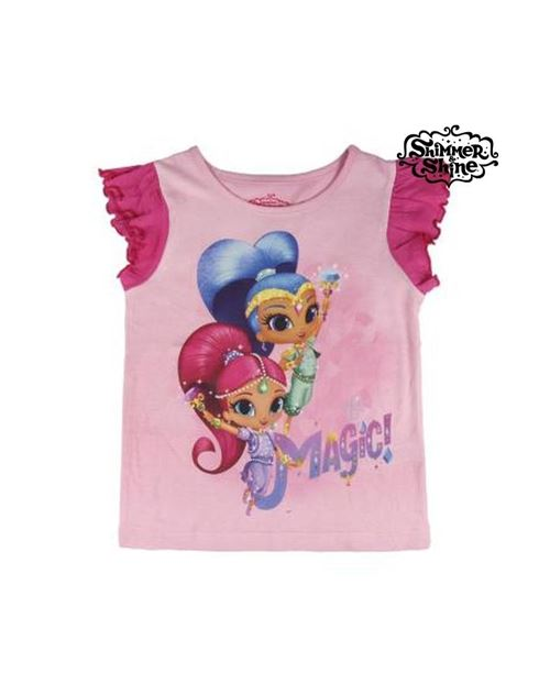 T shirt à manches courtes enfant shimmer and shine 6558 (taille 5 ans)