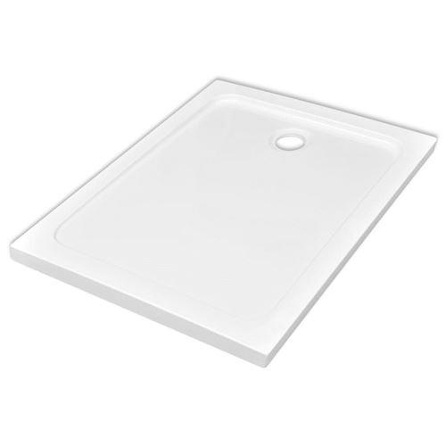 vidaXL Bac de douche rectangulaire ABS Blanc 80 x 110 cm