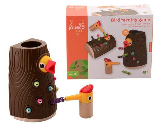Jouéco jeu d'alimentation pour oiseaux junior bois/acier 8-pièces