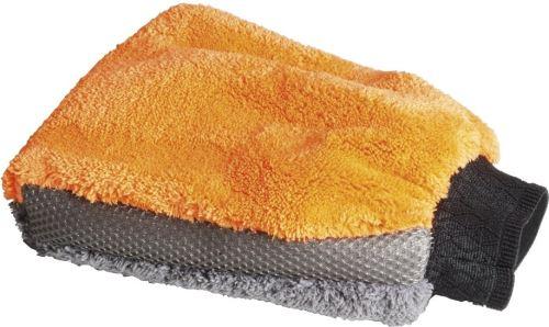 Mr. Kleen gant de toilette micro-fibre 3 dans une 22 x 18 cm orange / gris