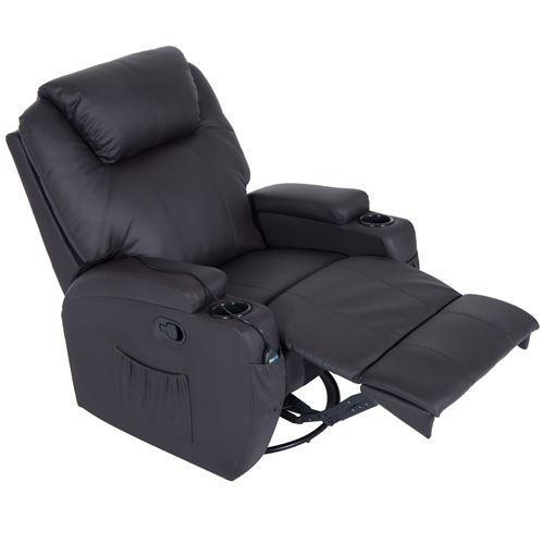 De Relaxation Fauteuil Luxe Massage Électrique Chocolat Chauffant Et I2HE9D