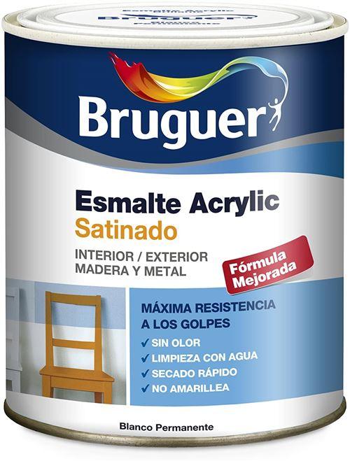 Bruguer Acrlico Vernis Blanc Satin Permanent-750 Ml