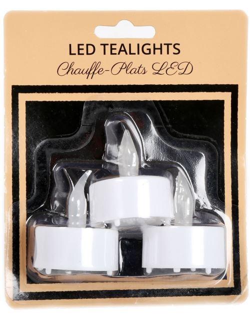 Lot de 3 bougies à thé LED