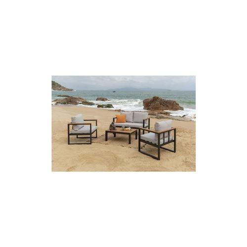 Alao Salon De Jardin 4 Places -un Canape Et Deux Fauteuils Avec Une Table Basse