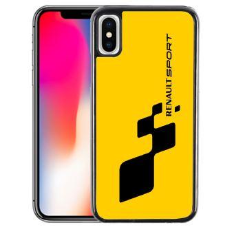 Coque pour iPhone X renault sport jaune