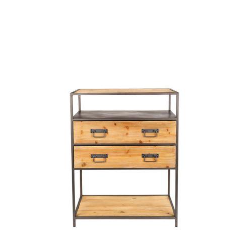 Console design en bois et métal Samuel - Couleur - Noir