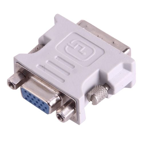 (#29) DVI-I Male Dual-Link 24 + 5 to 15 Pin VGA Female Video Monitor Adapter Converter(Grey)