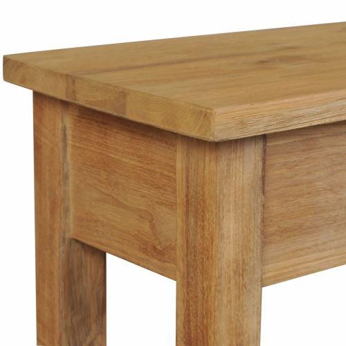 KKmoon Table console   Buffet   Table de Salon   Armoire à Tiroir Style Colonial en Bois de Teck massif 120 x 30 x 80 cm