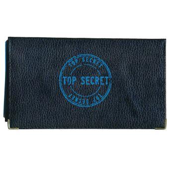 4f66852f59d Porte chèquier portefeuille porte carte en cuir noir Top Secret -  Porte-cartes - Achat & prix | fnac