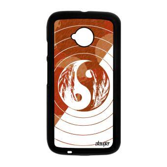 Coque Yin Et Yang Pour Motorola Moto E2 Dessin Couleur Metal