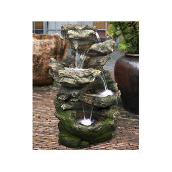 Fontaine De Jardin Norfolk Rochers Avec Cascade Et Eclairage Led