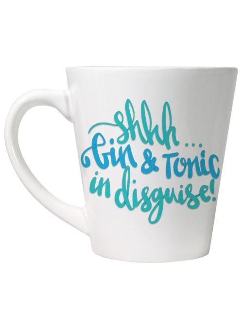 Tasse Shhh Gin & Tonic In Disguise blanc