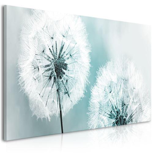 Paris Prix - Tableau Imprimé fluffy Dandelions Blue Wide 45x100cm