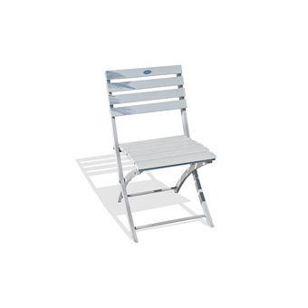 10€ sur Chaise pliante marius en aluminium gris 7035 alumob