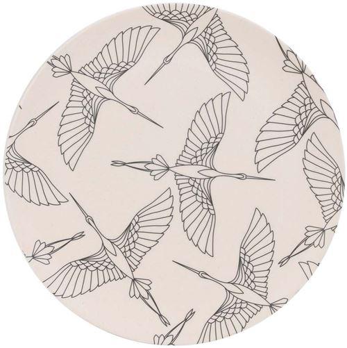 The Home Deco Factory - Assiette en fibre de bambou Eco concept 25 cm Oiseaux