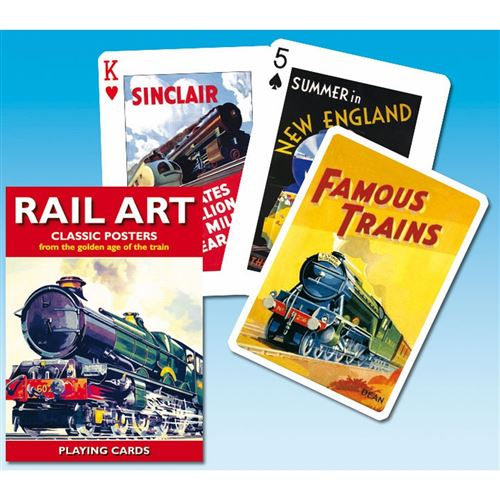 PIATNIK Jeu de 55 cartes RAIL ART Multicolore
