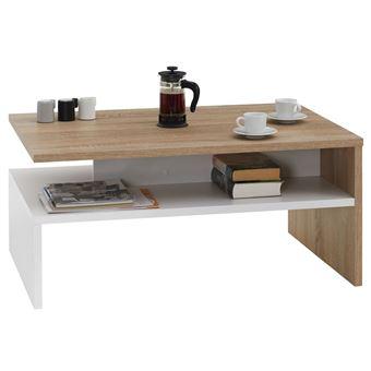 table basse adelaide m lamin sonoma et blanc achat prix fnac. Black Bedroom Furniture Sets. Home Design Ideas