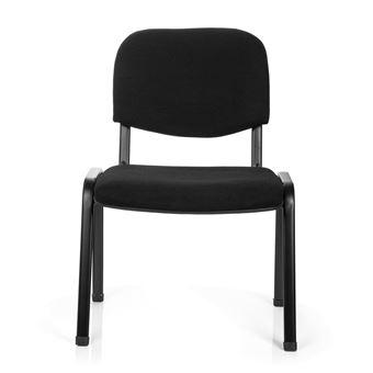 Chaise De Conference Chaise Visiteur Chaise Xt 600 Xl Noir Hjh