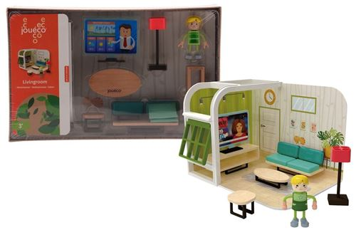 Jouéco set de jeu salon junior bois / carton 10 pièces