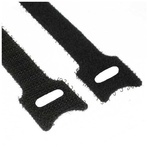 Attaches de câble InLine®, 12 x 200 mm, 10 pièces noir