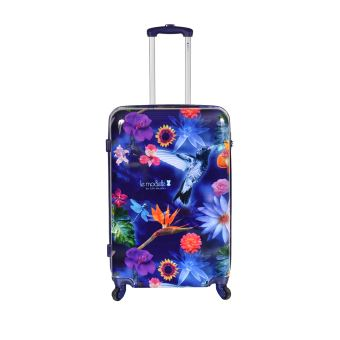 Valise rigide Le Modiste Morning Garden 76 cm Violet