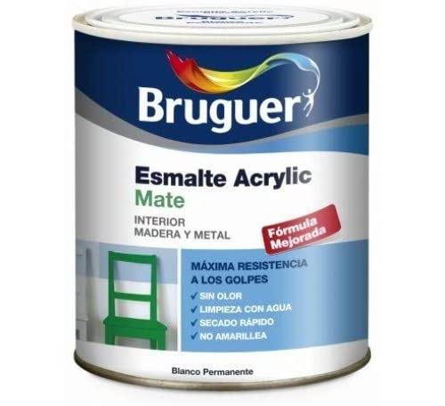 Bruguer 5069889-vernis Mat acrylique Blanc satin permanent