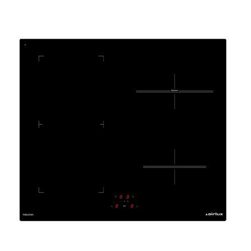Airlux ATIB64BK - Table de cuisson à induction - 4 plaques de cuisson - Niche - largeur : 56 cm - profondeur : 49 cm - noir