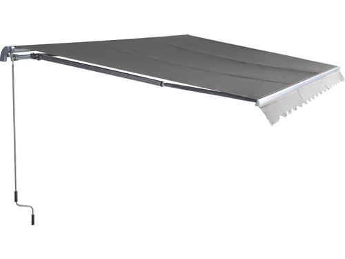 store banne en aluminium ombra 3 - 4 x 2.50 m - gris foncé