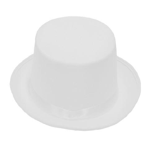 Rubie's chapeau haut-de-forme unisexe blanc