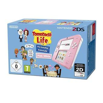 Console Nintendo 2DS Rose et Blanche + Tomodachi Life Edition Spéciale