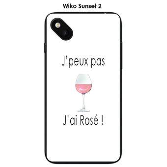 Coque Wiko Sunset 2 / Sunny design J'peux pas j'ai rosé