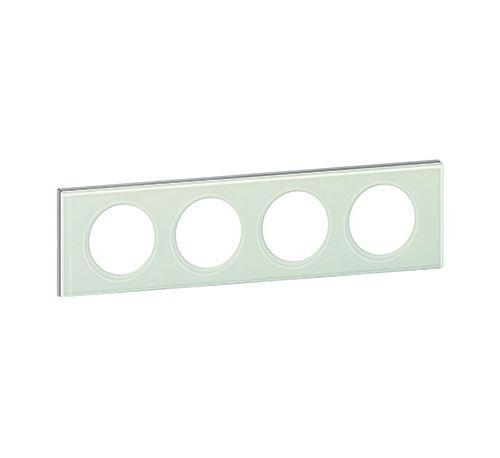 Plaque Céliane - Verre kaolin - Quadruple horizontale / verticale 71mm