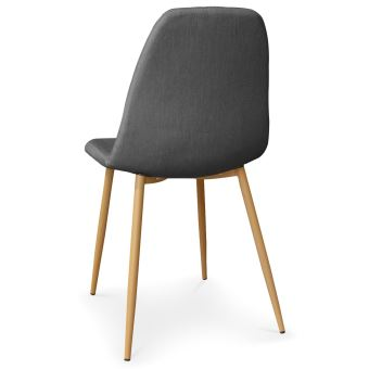 Gao Lot scandinaves Gris Tissu de 4 chaises Achatprix 7gy6vYbf