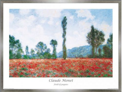 Poster Reproduction Encadré: Claude Monet - Champ De Coquelicots III ...
