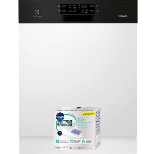 lave-vaisselle intégrable electrolux 1101672 55 noir airdry technology : ce système améliore les performances de séchage grâce à une ouverture automatique de la porte en fin de cycle de séchage afin d?accélérer le processus d'évaporation au contact de l'a