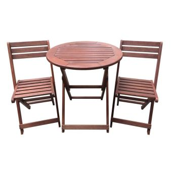 salon de jardin en bois exotique sydney - mahogany - marron ...