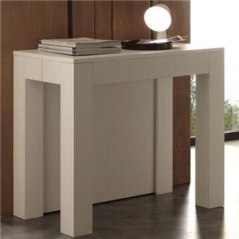 Table Console Extensible Blanche Design Viviane L 300 X P 90 X H 77 Cm