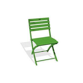 Chaise pliante marius en aluminium vert 6018 alumob