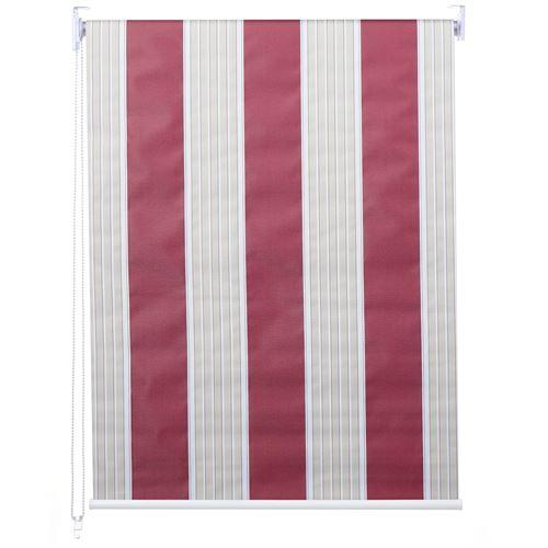 Store à enrouleur pour fenêtres, HWC-D52, avec chaîne, avec perçage, opaque, 100 x 230 ~ rouge/blanc/beige
