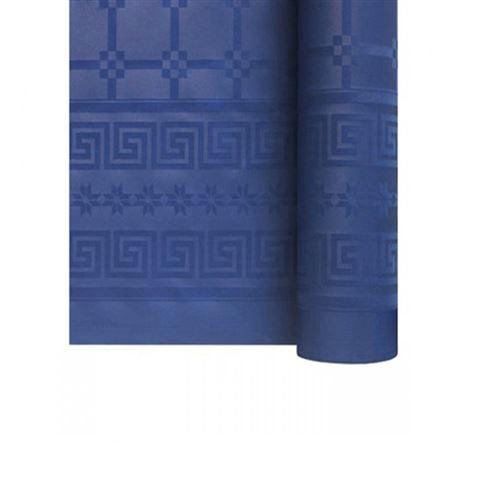 Nappe papier damassé rouleau 1.18x6m bleu vif