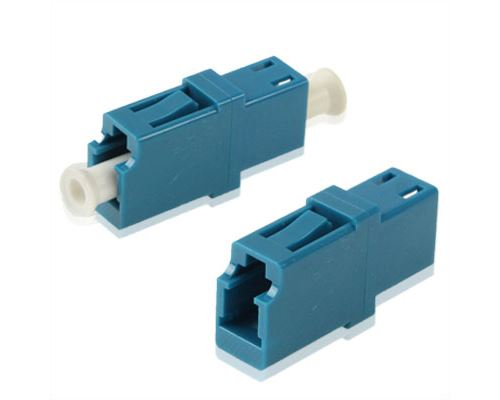 (#26) LC-LC Single-Mode Simplex Fiber Flange / Connector / Adapter / Lotus Root Device(Blue)