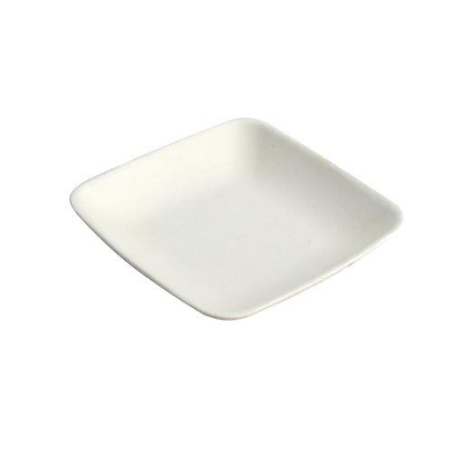 50 verrines carrées canne à sucre bio 6cm blanc