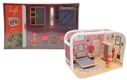 Jouéco jeu de chambre junior carton / bois 10 pièces
