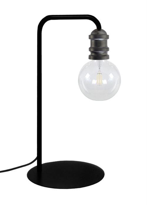 Lampe a poser norwich - ampoule decorative - noir anthracite - e27 40w