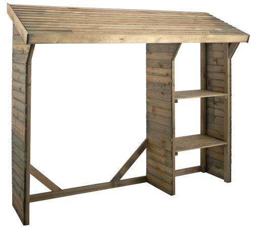 Jardipolys - Abri bûches en bois traité autoclave 1,6m³ Split
