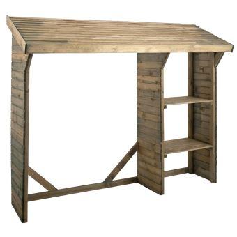Abri bûches en bois traité autoclave 1,6m³ Split - Mobilier de ...